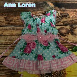 Ann Loren size 4/5 floral dress EUC